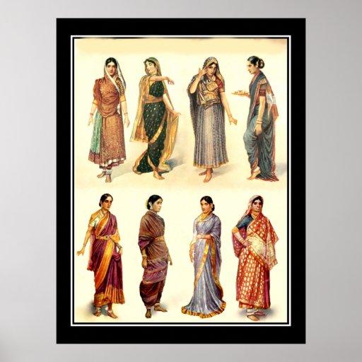 Fashion India  Vintage Poster Print