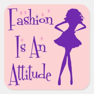 Fashion Is An Atttitude Square Stickers