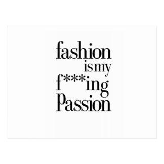 Fashion is my f *** ing pasión tarjeta postal