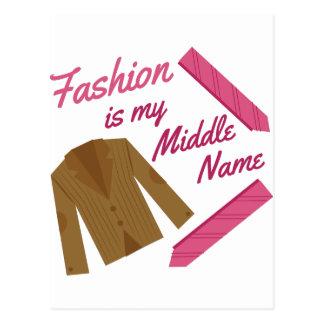 Fashion Is My Name Postcard
