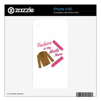 Fashion Is My Name iPhone 4S Skins