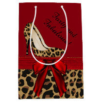 Fashion Jaguar Stilettos Custom Gift Bag