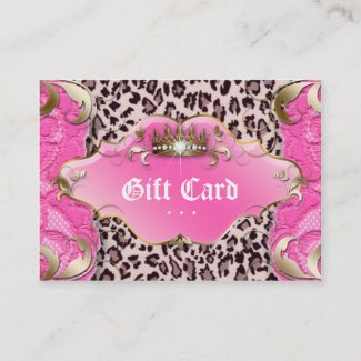 Fashion Jewelry Gift Certificate Leopard Lace Pink