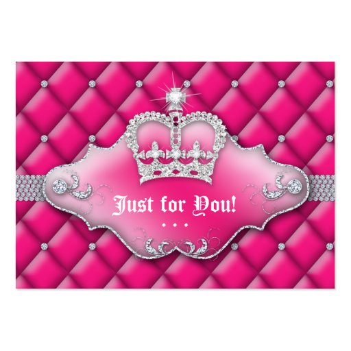 Fashion Jewelry Gift Certificate Tufted Satin Pink Business Card Templates