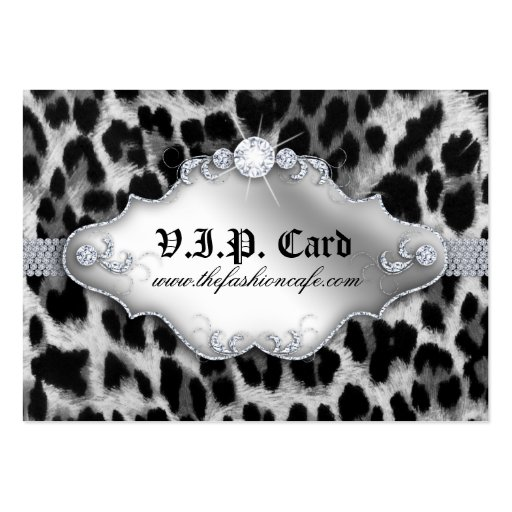 Fashion Jewelry VIP Club Card Leopard Black White Business Cards