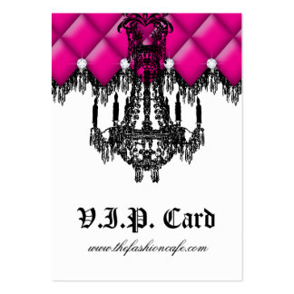 Fashion Jewelry VIP Club Card Tufted Leather Pink Large Business Cards (Pack Of 100)