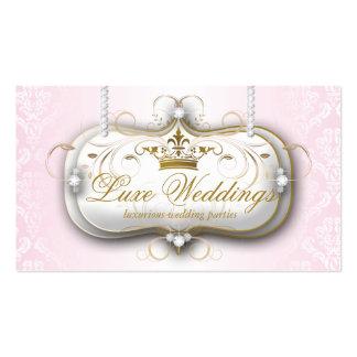Fashion Jewelry Wedding Elegant Crown Business Cards