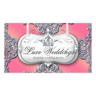 Fashion Jewelry Wedding Elegant Crown Glitter Business Card Template