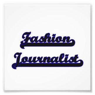 Fashion Journalist Classic Job Design Photo Print