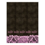 Fashion Lace Flyer Pink Brown Leather