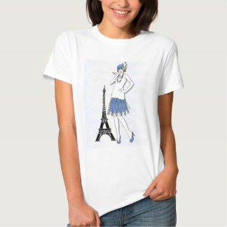 Fashion ladies in Paris Shirt
