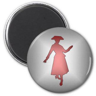 Fashion Lady 1 2 Inch Round Magnet