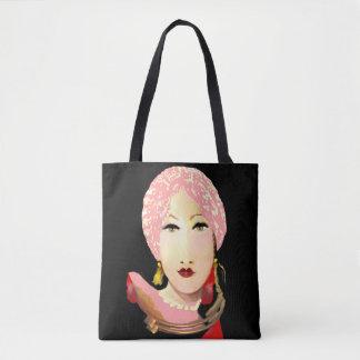 Fashion Lady Tote Bag -Woman - Pink/Red/Black