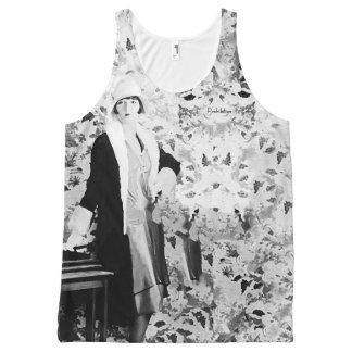 'Fashion Lady' Vintage All-Over Printed T-Shirt All-Over Print Tank Top