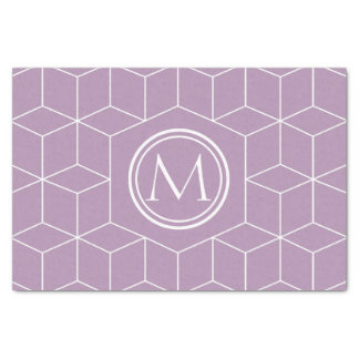 "Fashion Lavender Herb Cubes and Monogram 10"" X 15"" Tissue Paper"