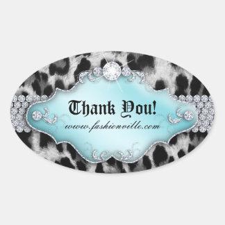 Fashion Leopard Sticker Jewelry Blue Black