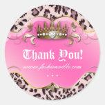 Fashion Leopard Sticker Jewelry Crown Pink