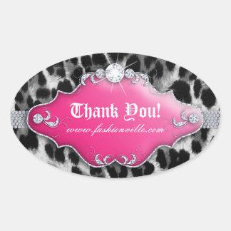 Fashion Leopard Sticker Jewelry Pink Black