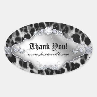 Fashion Leopard Sticker Jewelry White Black