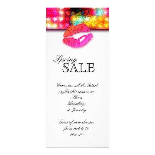Fashion Makeup Artist Colorful Lips N Lights Custom Rack Card