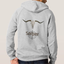 Fashion Mens Apparel Longhorn Bull Clothing Hoodie