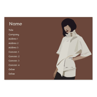 Fashion Merchandiser - Chubby Large Business Card
