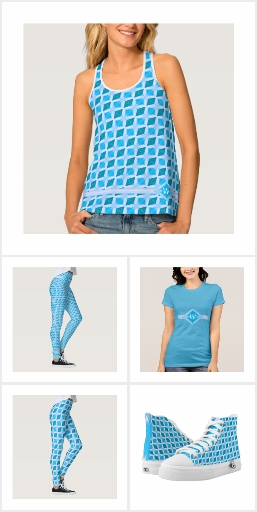 Fashion Mix and Match Aqua Diamond Pattern - ADS2P