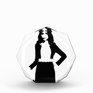 Fashion model acrylic award