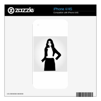 Fashion model iPhone 4 decal