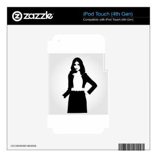 Fashion model iPod touch 4G skin