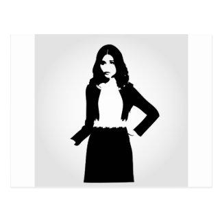 Fashion model postcard
