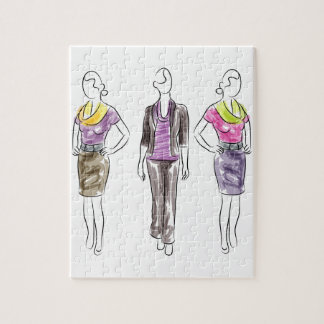 Fashion Model Sketches Jigsaw Puzzle