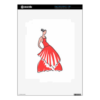 FASHION MODEL DECALS FOR iPad 2