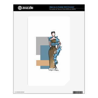 FASHION MODEL DECAL FOR THE NOOK COLOR