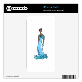 Fashion Model Decals For The iPhone 4