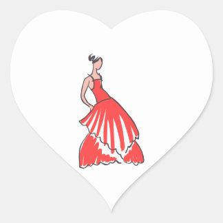 FASHION MODEL HEART STICKER