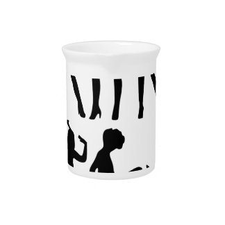 Fashion Models Silhouette Drink Pitcher