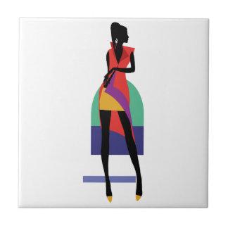 Fashion modern stylish trendy illustration pattern ceramic tile