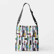 Fashion modern stylish trendy illustration pattern crossbody bag