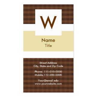 Fashion - Monogram Business Card