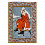 Fashion on the slopes greeting card