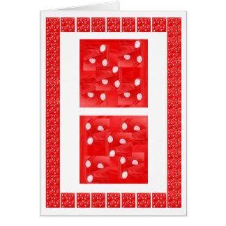 Fashion Parade - Art on Silk Fabric Patchwork Greeting Card
