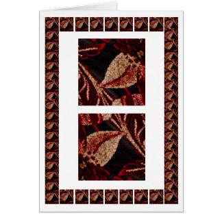 Fashion Parade - Jewel Art on Silk Fabric Greeting Card