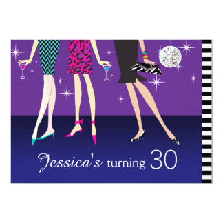 Fashion Party Girls 30th Birthday Card