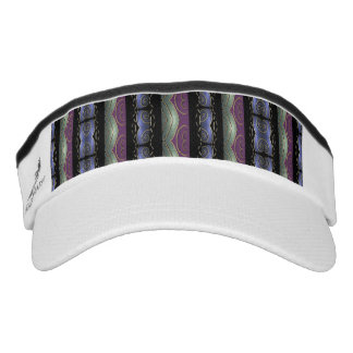 Fashion Pattern Knit Visor-Purple/Green/Blue/Black Visor