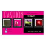 Fashion photography/photos template Double-Sided standard business cards (Pack of 100)