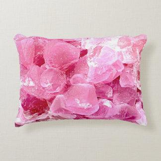 Fashion pink gemstone accent pillow