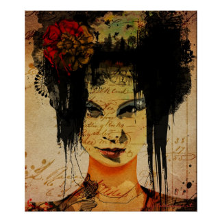 Fashion-plate 1 Art Poster