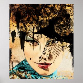Fashion-plate 2 Art Poster