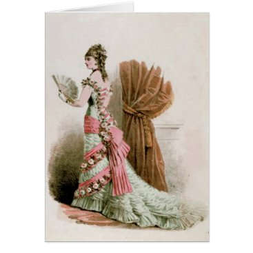 galleriaofart Fashion Plate ~ Card Paint Vintage Paris France